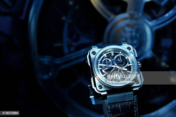 Bell Ross BRX1 Chronograph Tourbillon watch is displayed during Baselworld on March 16 2016 in Basel Switzerland Held annually Baselworld is the most...