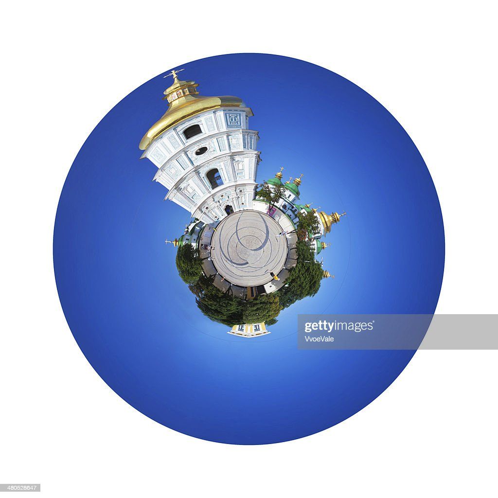 bell tower and Saint Sophia Cathedral in Kiev : Stock Photo