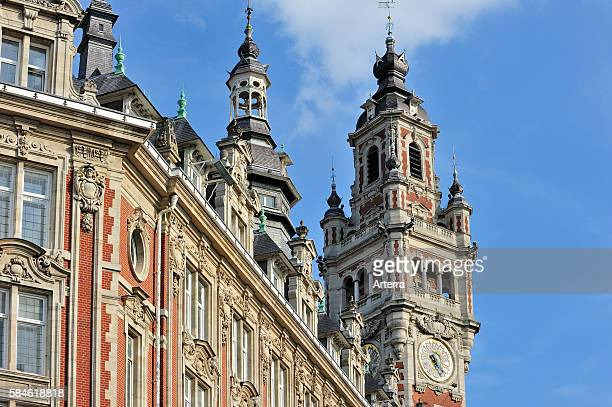 Bell tower of Chamber of Commerce at Lille France
