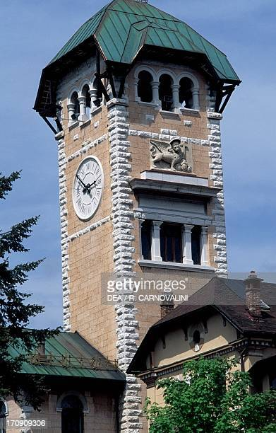 Bell tower of the Town Hall of Asiago Veneto Veneto Italy