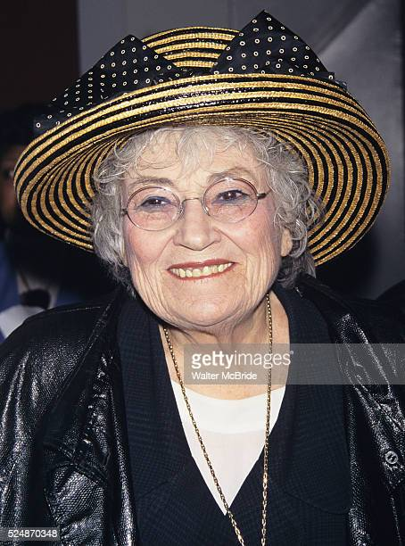 Bella Abzug pictured at the opening of the play 'The Bermuda Triangle' at the Promenade in New York City on May 10 1997