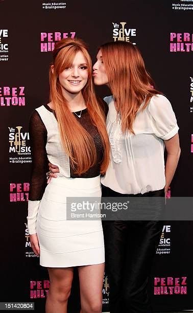 Bella and Dani Thorne attend Perez Hilton's One Night In Los Angeles at The Belasco Theater on September 6 2012 in Los Angeles California