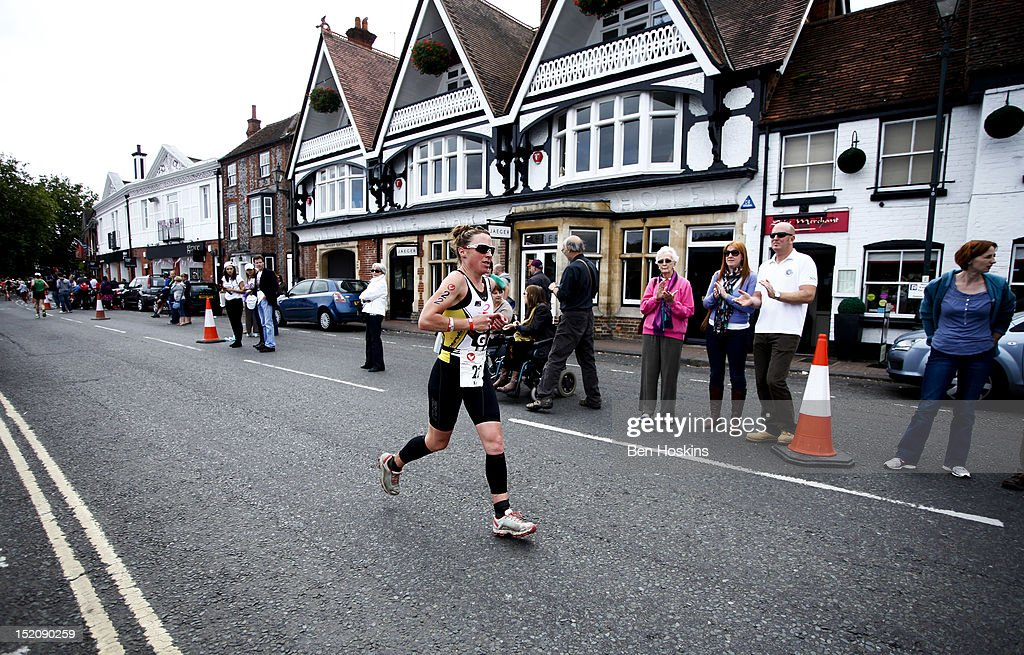 Bella Bayliss takes part in the women's race during the Challenge Henley-on-Thames Triathlon on September 16, 2012 in London, England.
