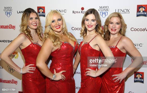 Bella Electric Strings attend the 14th Annual Red Dress Awards presented by Woman's Day Magazine at Jazz at Lincoln Center Appel Room on February 7...