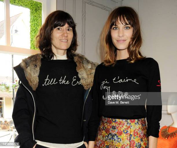 Bella Freud and Alexa Chung attend the Bicester Village British Designers Collective launch hosted by Alexa Chung on March 21 2012 in Bicester England