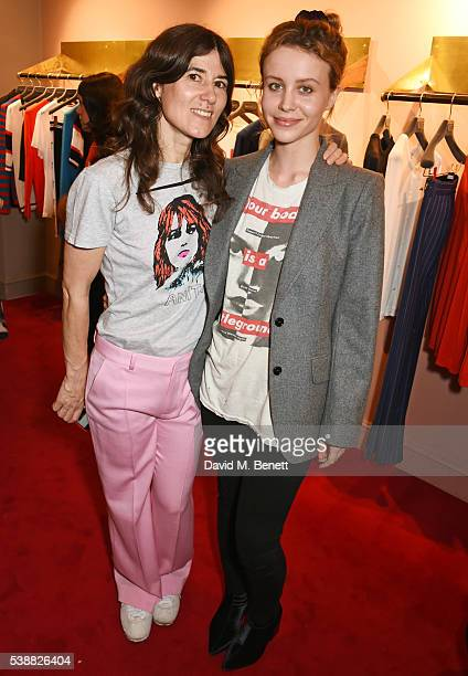Bella Freud and Billie JD Porter attend the launch of Bella Freud's numbered edition collection of sunglasses with Cutler Gross at her Chiltern...