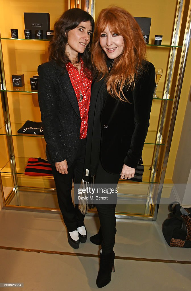 Bella Freud (L) and Charlotte Tilbury attend the Bella Freud store launch in Marylebone on December 9, 2015 in London, England.