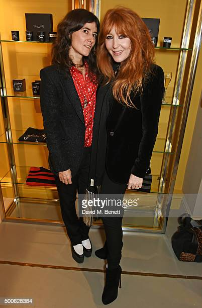 Bella Freud and Charlotte Tilbury attend the Bella Freud store launch in Marylebone on December 9 2015 in London England