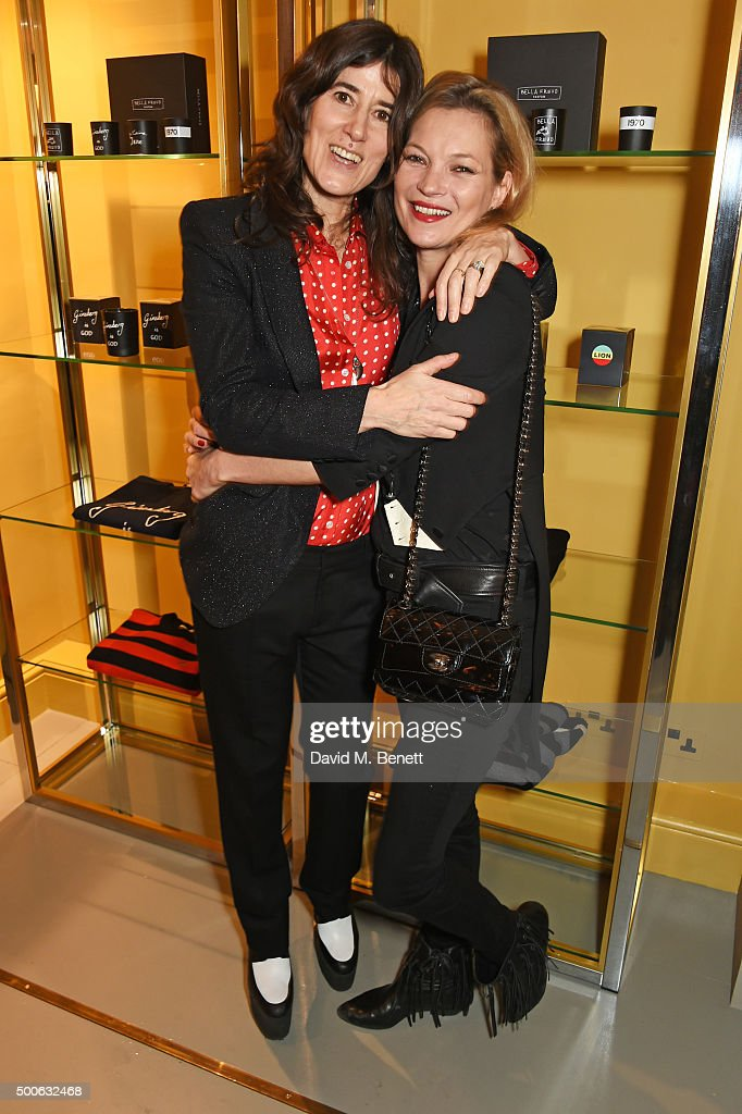 Bella Freud (L) and Kate Moss attend the Bella Freud store launch in Marylebone on December 9, 2015 in London, England.