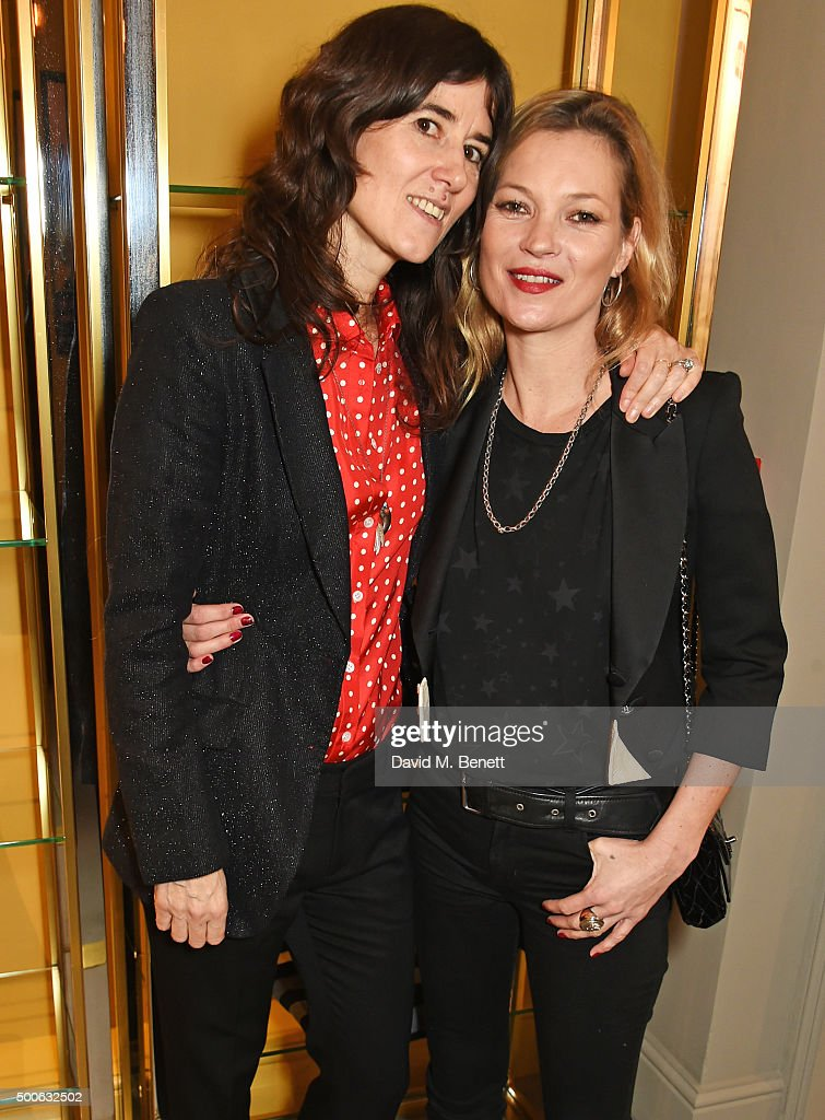 Bella Freud and Kate Moss attend the Bella Freud store launch in Marylebone on December 9 2015 in London England