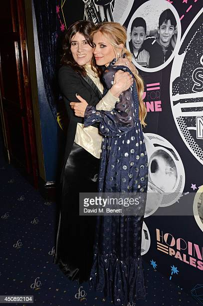 Bella Freud and Laura Bailey arrive at The Hoping Foundation's 'Starry Starry Night' Benefit Evening For Palestinian Refugee Children at Cafe de...