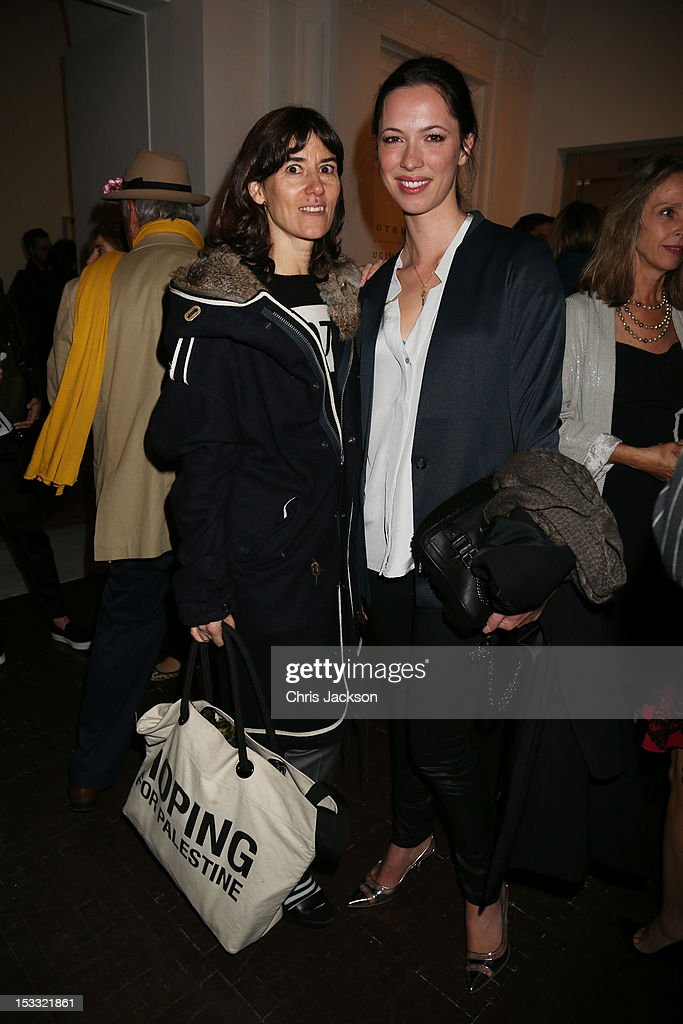 Bella Freud and <a gi-track='captionPersonalityLinkClicked' href=/galleries/search?phrase=Rebecca+Hall&family=editorial&specificpeople=778176 ng-click='$event.stopPropagation()'>Rebecca Hall</a> attend the launch of Pace London at 6 Burlington Gardens - the Royal Academy on October 3, 2012 in London, England. Opening the space is Rothko/Sugimoto: Dark Paintings and Seascapes, which will run until November 16th 2012.