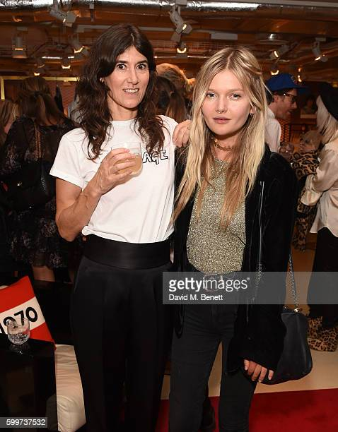 Bella Freud and Sophie Kennedy Clark attend the launch of Bella Freud's new fragrance at Fenwick Of Bond Street on September 6 2016 in London England