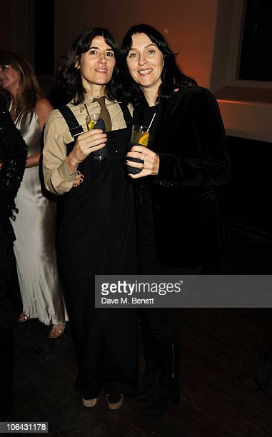 Bella Freud and Susie Bick attend the Harper's Bazaar Women of the Year Awards on November 1 2010 in London England