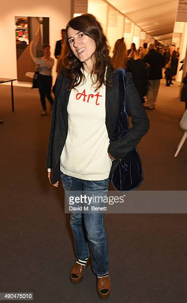 Bella Freud attends a champagne reception hosted by the directors of Frieze to celebrate the opening of Frieze Masters 2015 in Regent's Park on...
