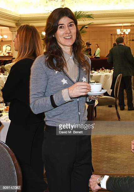Bella Freud attends the Hoping Breakfast for Palestinian refugee children at Harrods on February 9 2016 in London England