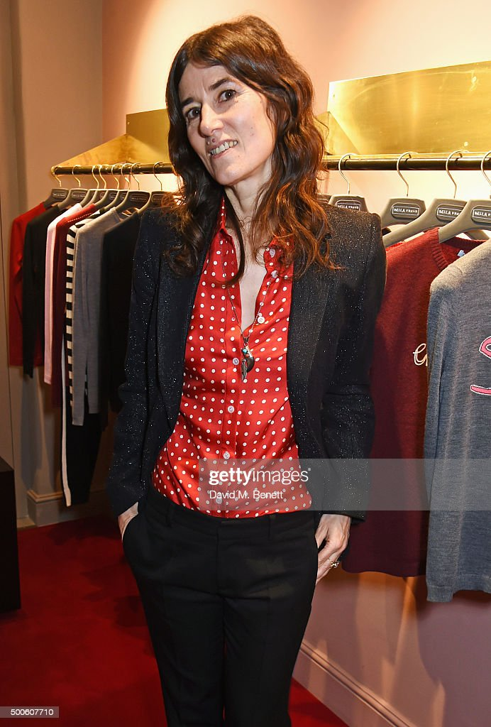 Bella Freud attends the launch of her store in Marylebone on December 9 2015 in London England