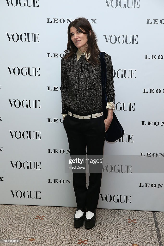 Bella Freud attends the opening of Vogue100 A century of Style at National Portrait Gallery on February 9 2016 in London England