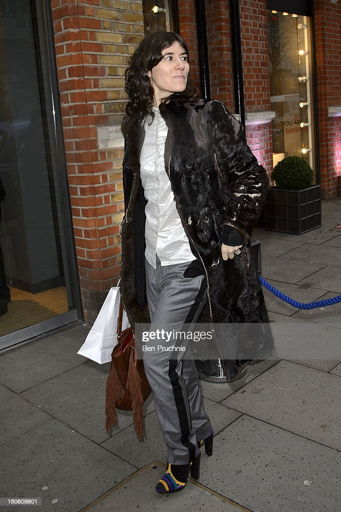 Bella Freud attends the Smythson of Bond Street's afternoon tea party, celebrating the opening of their new Sloane Street store, on February 6, 2013 in London, England.