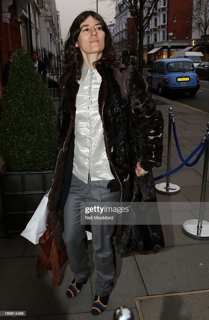 Bella Freud attends the Smythson of Bond Street's afternoon tea party, celebrating the opening of their new Sloane Street store on February 6, 2013 in London, England.