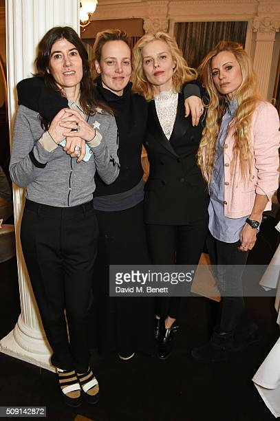 Bella Freud Bay Garnett Eva Herzigova and Laura Bailey attend the Hoping Breakfast for Palestinian refugee children at Harrods on February 9 2016 in...