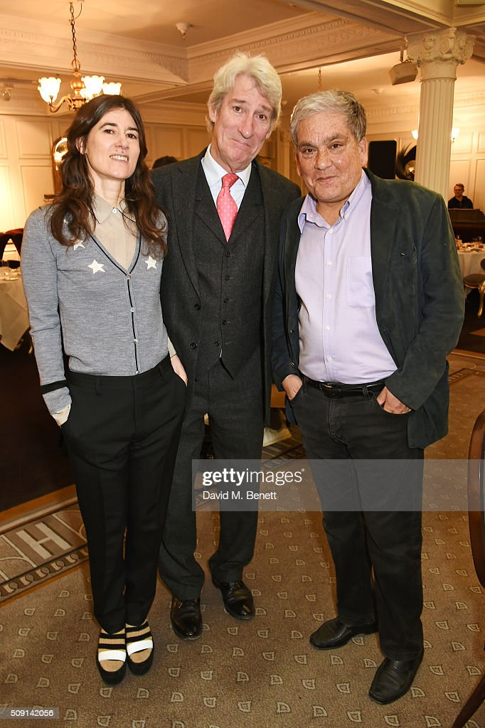 Bella Freud, <a gi-track='captionPersonalityLinkClicked' href=/galleries/search?phrase=Jeremy+Paxman&family=editorial&specificpeople=712796 ng-click='$event.stopPropagation()'>Jeremy Paxman</a> and Chris Gunness, chief spokesperson for the United Nations Relief and Works Agency for Palestine Refugees, attend the Hoping Breakfast for Palestinian refugee children at Harrods on February 9, 2016 in London, England.
