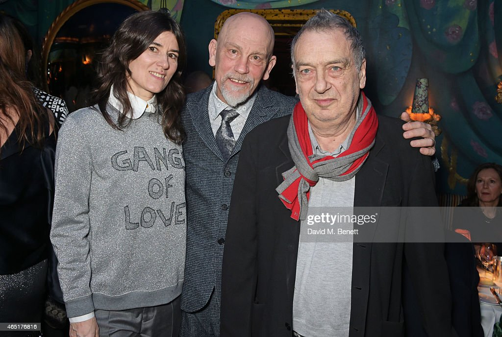 Bella Freud John Malkovich and Stephen Frears attend the premiere of 'A Postcard From Istanbul' directed by John Malkovich in collaboration with St...