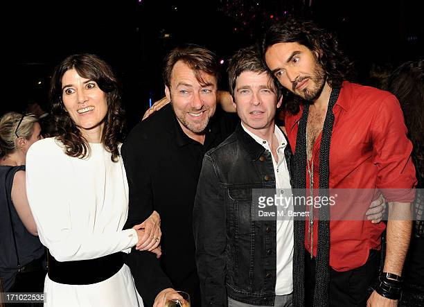 REQUIRED Bella Freud Jonathan Ross Noel Gallagher and Russell Brand attend the Hoping Foundation's 'Rock On' benefit evening for Palestinian refugee...