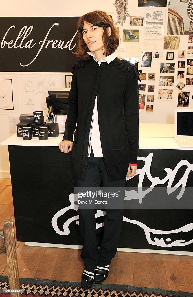 Bella Freud poses in her Bicester Village pop-up boutique on November 15, 2012 in Bicester, England.