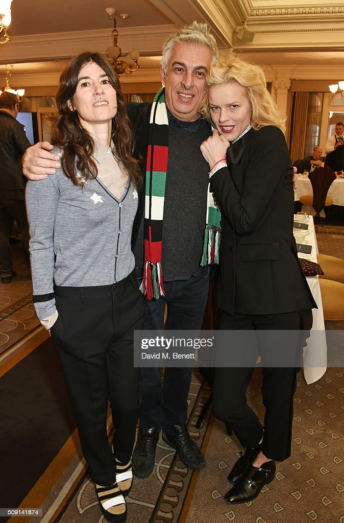 Bella Freud Rifat Ozbek and Eva Herzigova attend the Hoping Breakfast for Palestinian refugee children at Harrods on February 9 2016 in London England