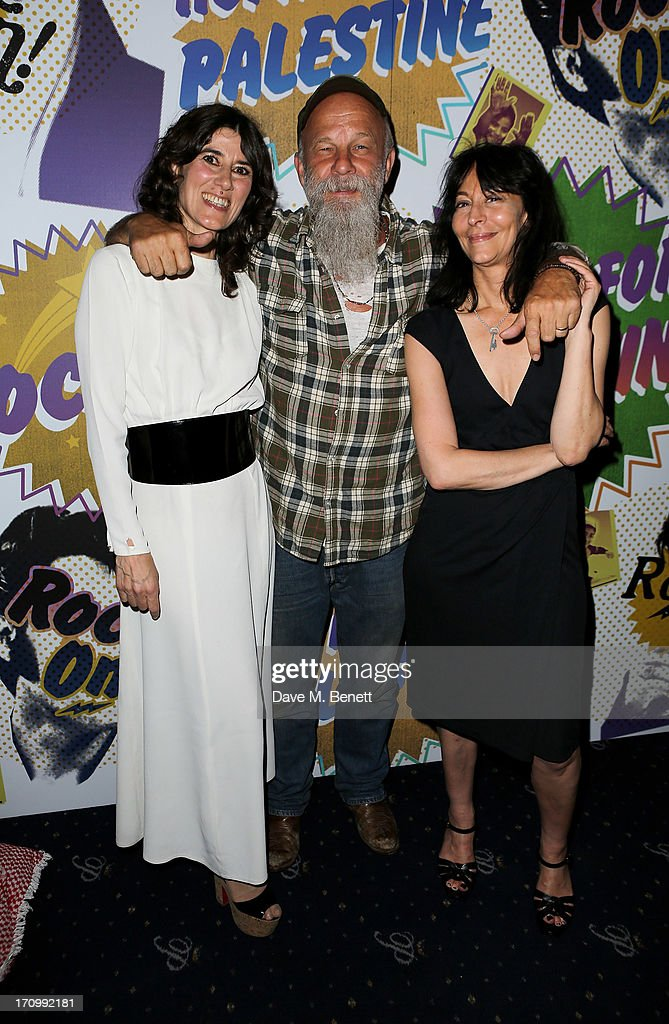 Bella Freud, <a gi-track='captionPersonalityLinkClicked' href=/galleries/search?phrase=Seasick+Steve&family=editorial&specificpeople=4339803 ng-click='$event.stopPropagation()'>Seasick Steve</a> and Karma Nabulsi attends The Hoping Foundation's 'Rock On', a benefit evening for Palestinian refugee children, at Cafe de Paris on June 20, 2013 in London, England.