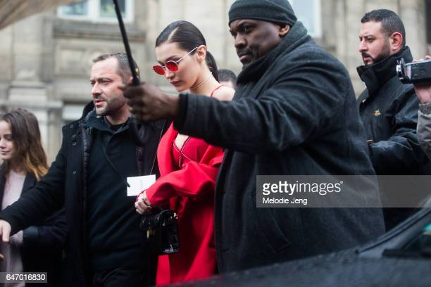 Bella Hadid after Lanvin on March 1 2017 in Paris France