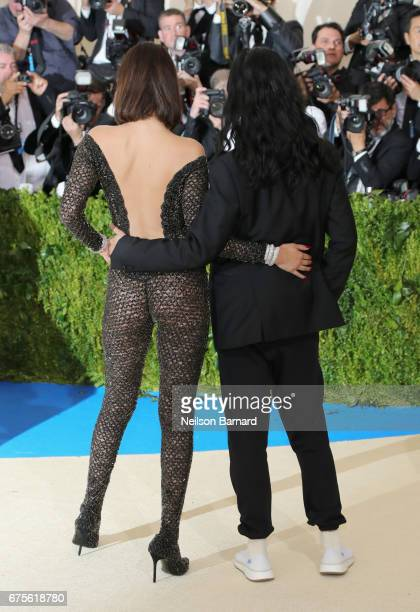 Bella Hadid and Alexander Wang attend the 'Rei Kawakubo/Comme des Garcons Art Of The InBetween' Costume Institute Gala at Metropolitan Museum of Art...