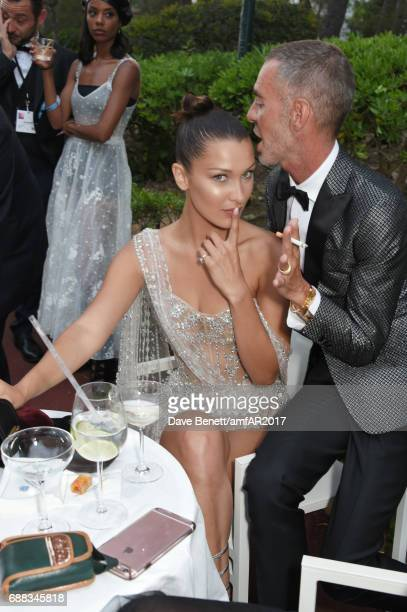 Bella Hadid and Dean Caten attend the amfAR Gala Cannes 2017 at Hotel du CapEdenRoc on May 25 2017 in Cap d'Antibes France