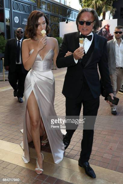 Bella Hadid and her father Mohamed are spotted eating an ice cream at the 'Majestic' hotelduring the 70th annual Cannes Film Festival at on May 17...