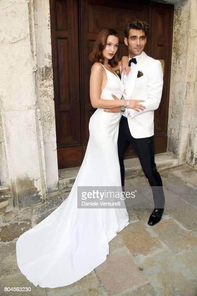 Bella Hadid and Jon Kortajarena attend Bvlgari Party at Scuola Grande della Misericordia on June 30 2017 in Venice Italy
