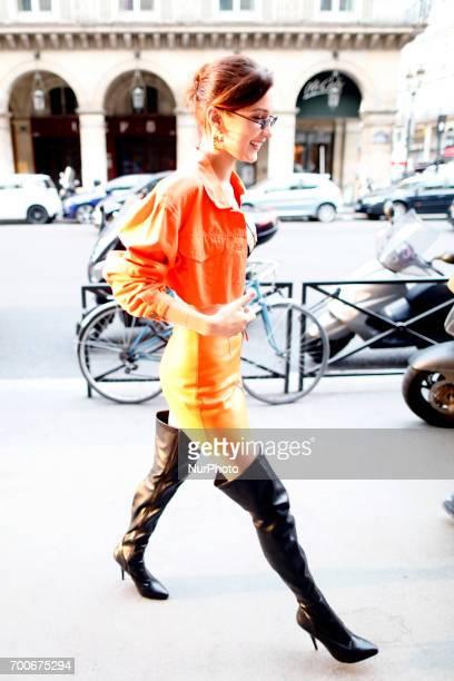 Bella Hadid and Travis Scott attend the Heron Preston Presentation Man Menswear Spring/Summer 2018 show as part of Paris Fashion Week on June 22 2017...