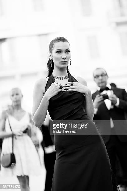 Bella Hadid arrives at the amfAR's 23rd Cinema Against AIDS Gala at Hotel du CapEdenRoc on May 19 2016 in Cap d'Antibes France