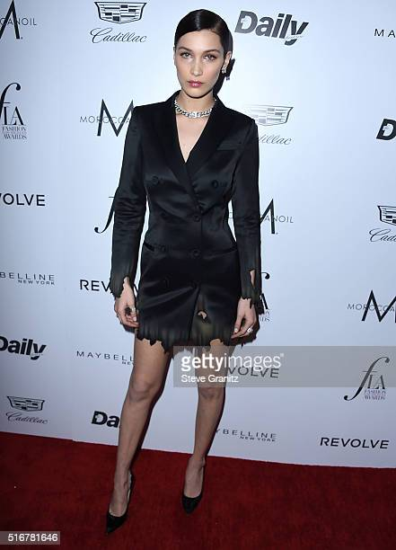 Bella Hadid arrives at the The Daily Front Row 'Fashion Los Angeles Awards' 2016 at Sunset Tower Hotel on March 20 2016 in West Hollywood California