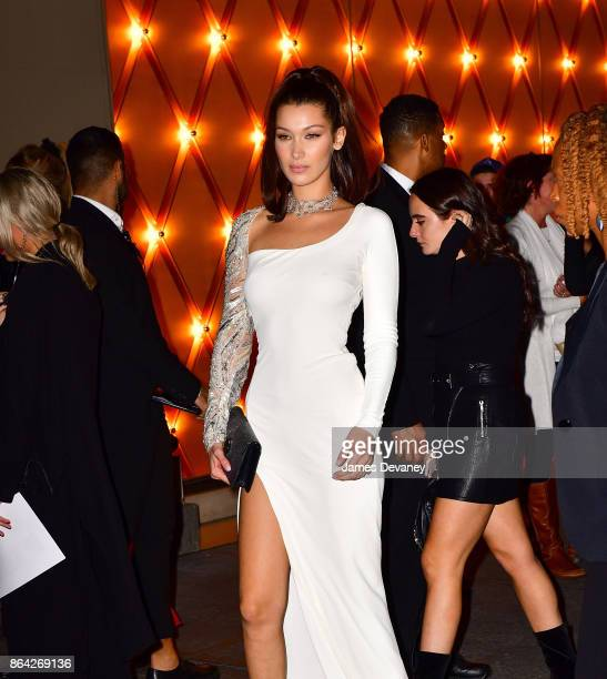 Bella Hadid arrives to Bulgari store on Fifth Avenue on October 20 2017 in New York City