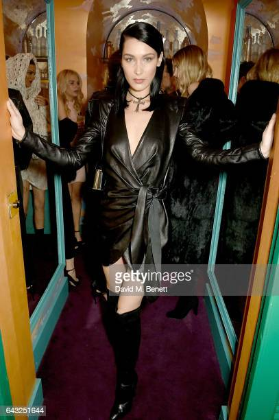 Bella Hadid at the LOVE and Burberry London Fashion Week Party at Annabel's celebrating Katie Grand and Kendall Jenner's #LOVEME17 on February 20...