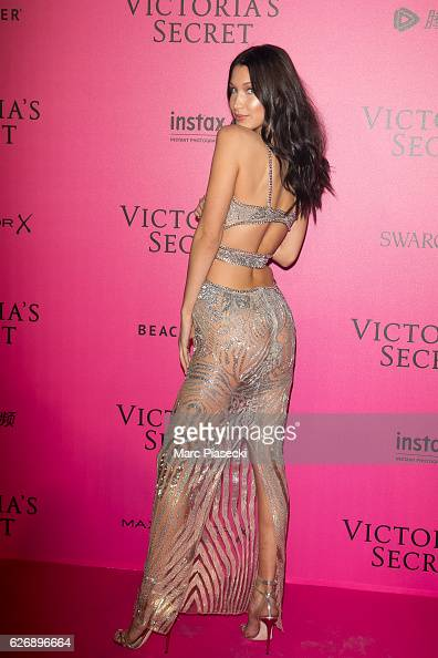 Bella Hadid attends '2016 Victoria's Secret Fashion Show' after show photocall at Le Grand Palais on November 30 2016 in Paris France