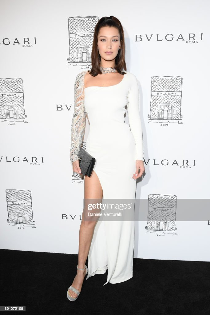 Bella Hadid attends a party to celebrate the Bvlgari Flagship Store Reopening on October 20, 2017 in New York City.