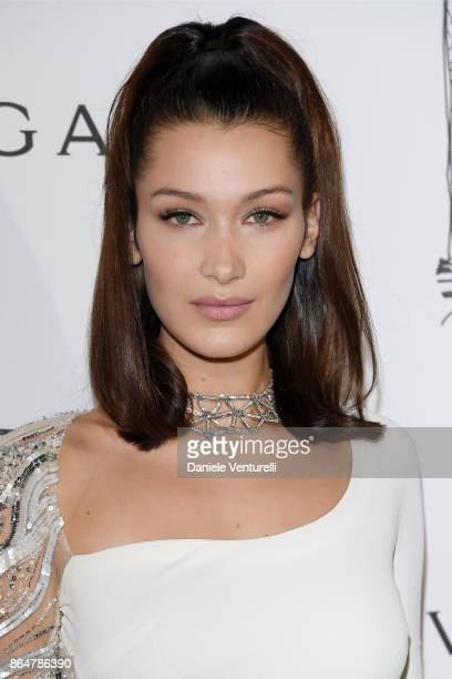 Bella Hadid attends a party to celebrate the Bvlgari Flagship Store Reopening on October 20 2017 in New York City