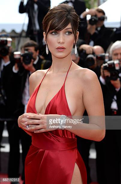 Bella Hadid attends a screening of 'The Unknown Girl ' at the annual 69th Cannes Film Festival at Palais des Festivals on May 18 2016 in Cannes France