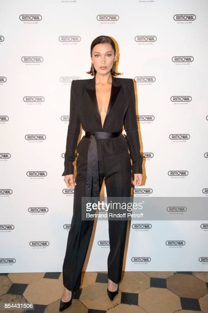 Bella Hadid attends dinner hosted by Rimowa Alexandre Arnault to celebrate the 80th Anniversary of Rimowa's iconic aluminium suitcase at Restaurant...