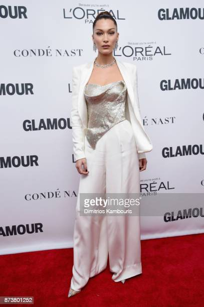 Bella Hadid attends Glamour's 2017 Women of The Year Awards at Kings Theatre on November 13 2017 in Brooklyn New York