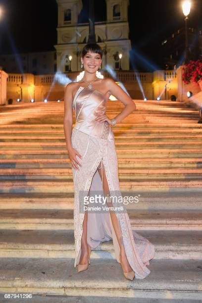 Bella Hadid attends Goldea The Roman Night Cocktail Dinner on May 24 2017 in Rome Italy