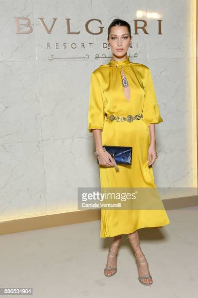 Bella Hadid attends Grand Opening Bulgari Dubai Resort on December 5 2017 in Dubai United Arab Emirates