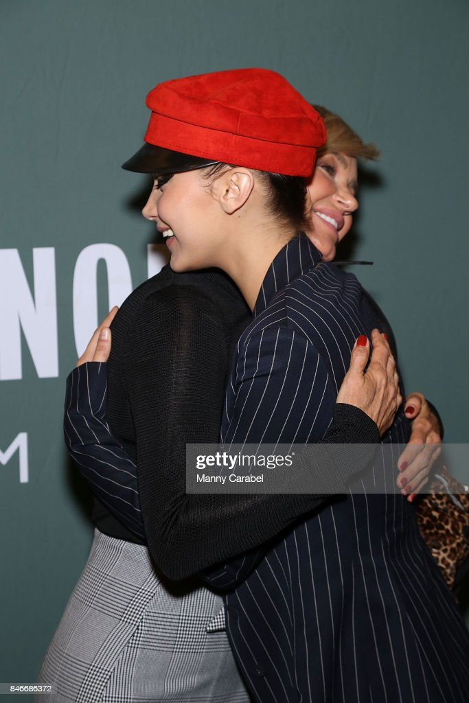 Bella Hadid attends her mother Yolanda Hadid's book signing of 'Believe Me: My Battle with the Invisible Disability of Lyme Disease' at Barnes & Noble Tribeca on September 13, 2017 in New York City.